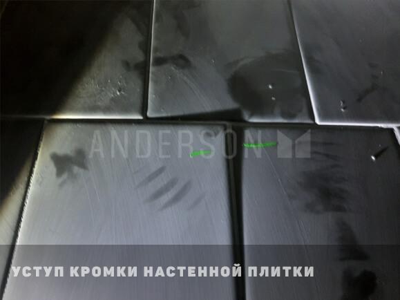 Уступ кромки настенной плитки