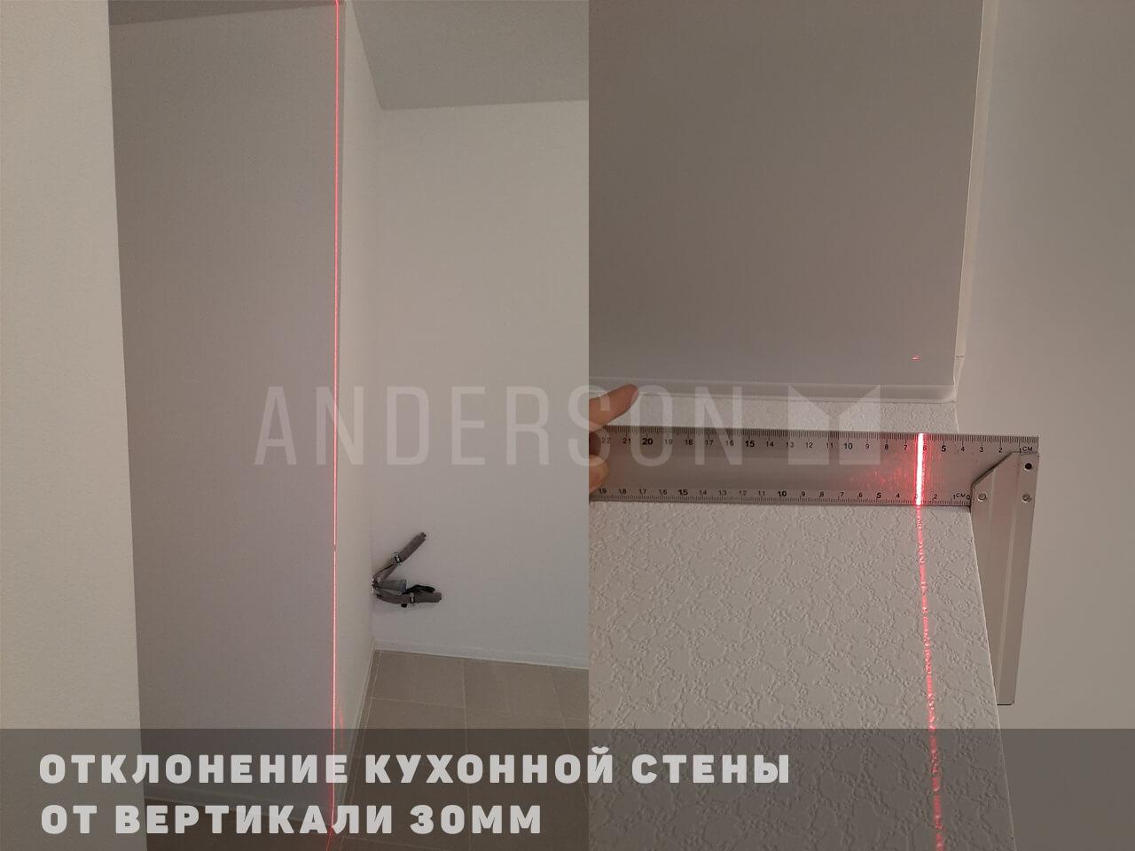 кривая кухонная стена