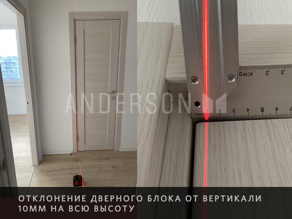 криво установлена дверь